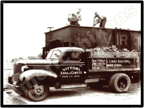 Dodge Trucks New Metal Sign: Vittori Coal & Coke Truck 1939