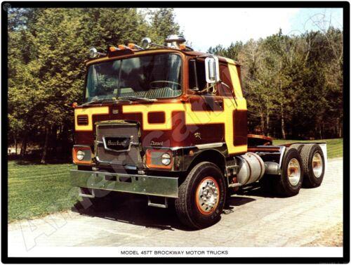 Vtg. Brockway Truck New Metal Sign: Model 457T COE - Beautiful Truck!