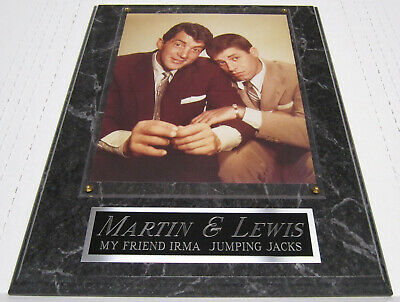 #1 FAN DEAN MARTIN & JERRY LEWIS FRAMED 8X10 PHOTO-12X15 WALL PLAQUE DISPLAY