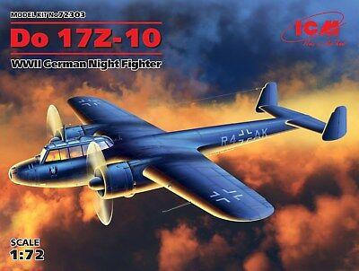 Sealed Box ICM 1/72 Dornier Do 17Z-10 WW II German Nightfighter   72303 for sale  Shipping to South Africa