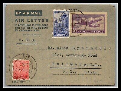 GP GOLDPATH: INDIA POSTAL STATIONARY 1954 AIR MAIL _CV699_P24