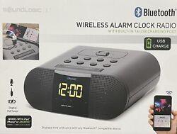 Soundlogic XT Bluetooth Wireless Alarm Clock Radio Works w/ iPad iPhone Android