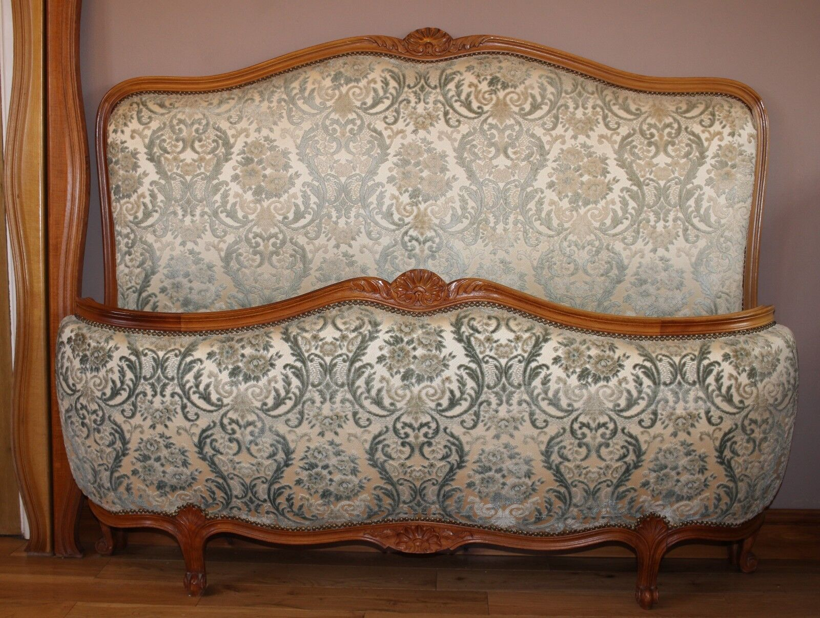 French Corbeille Double Bed in Louis XVI Style