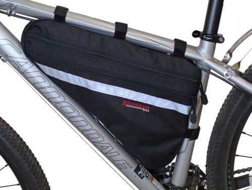 Bushwhacker Fargo Black Bicycle Frame Bag Cycling Pack Seat Top Tube Bike Wedge