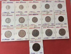 East German coins