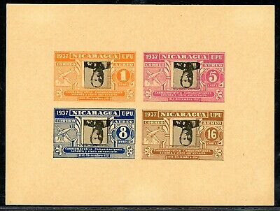 Nicaragua 75th Ann Postal Service Specialized: MAX #A235ba Rose INVERT IMPERF $$
