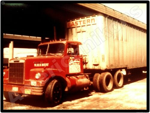White Trucks New Metal Sign: Eastern Express Co. Tractor & Trailer Picture