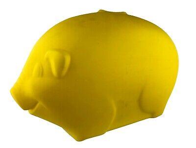 Vintage Big Big Piggy Bank Blow Mold Yellow Plastic 1980s Holds $800 in Quarters - Big Plastic Piggy Bank