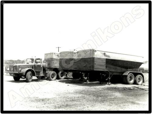 Mack Truck New Metal Sign: Mack w/ Halliburton Trailers - Crossville, Illinois