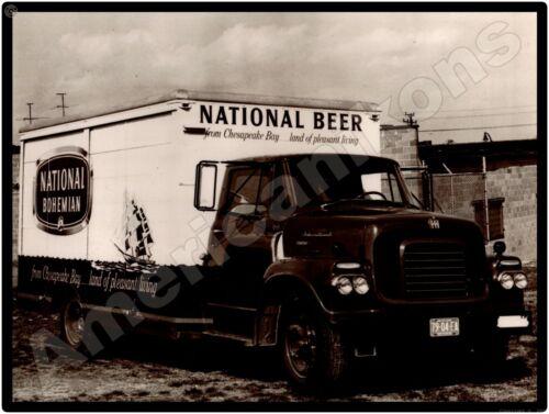 Vtg. International Trucks New Metal Sign: National Bohemian Beer Truck Pictured