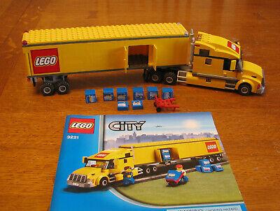 "CITY LEGO SET  3221  "" LEGO TRUCK  ""  INSTRUCTIONS  --  NO BOX  HAS 2 MINIFIGS"