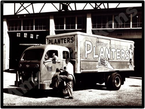 White Trucks New Metal Sign: White 3000 Planters Peanuts Delivery Truck Pictured