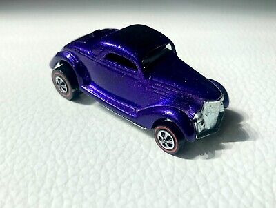 Hot Wheels Redline Purple Classic 36 Ford Coupe Near Mint 1968 Original Cond