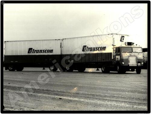 White Freightliner Trucks New Metal Sign: TransCon Tractor Trailer w/ Sleeper