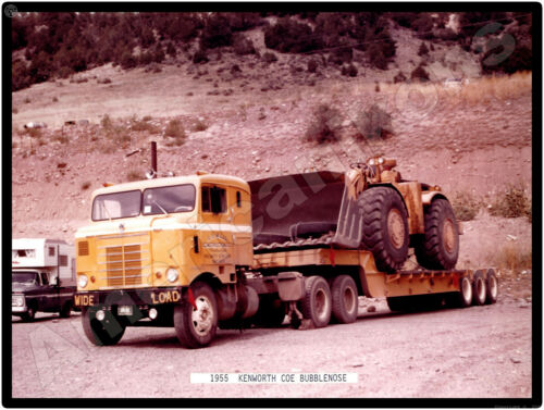 Kenworth Trucks New Metal Sign: COE Bubblenose CE Mills Construction, Payloader?
