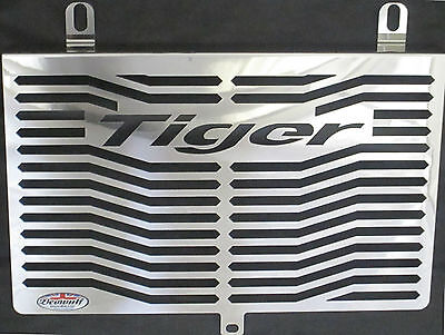 TRIUMPH TIGER 955I 01 06 STAINLESS STEEL RADIATOR GUARD AND OIL COOL