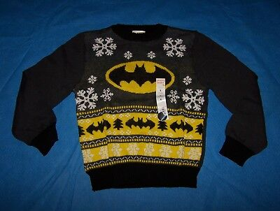 Size (6) Boys  Ugly Christmas Sweater Jumping Beans DC Comics Batman](Boys Ugly Christmas Sweater)