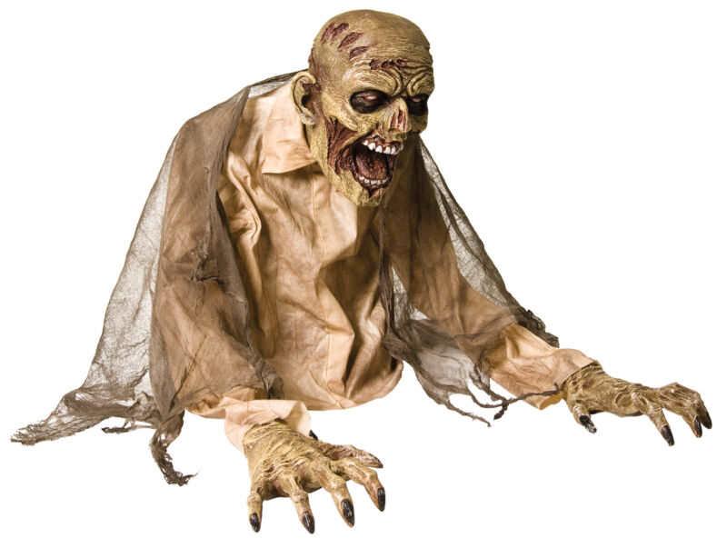 Life Size Animated Gaseous Zombie Fog Acc. Halloween Prop Haunted Outdoor Decor