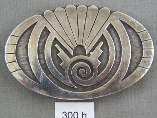 Hopi Style Overlay Sterling Silver Belt Buckle