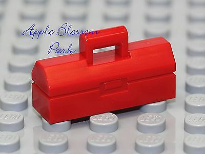 NEW Lego City Minifig Red TOOLBOX Car Mechanic Minifigure Truck/Vehicle Tool Box (Lego Minifig Box)