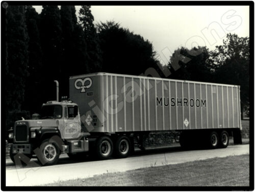 Mack Trucks New Metal Sign: Mushroom Tractor Trailer Pictured