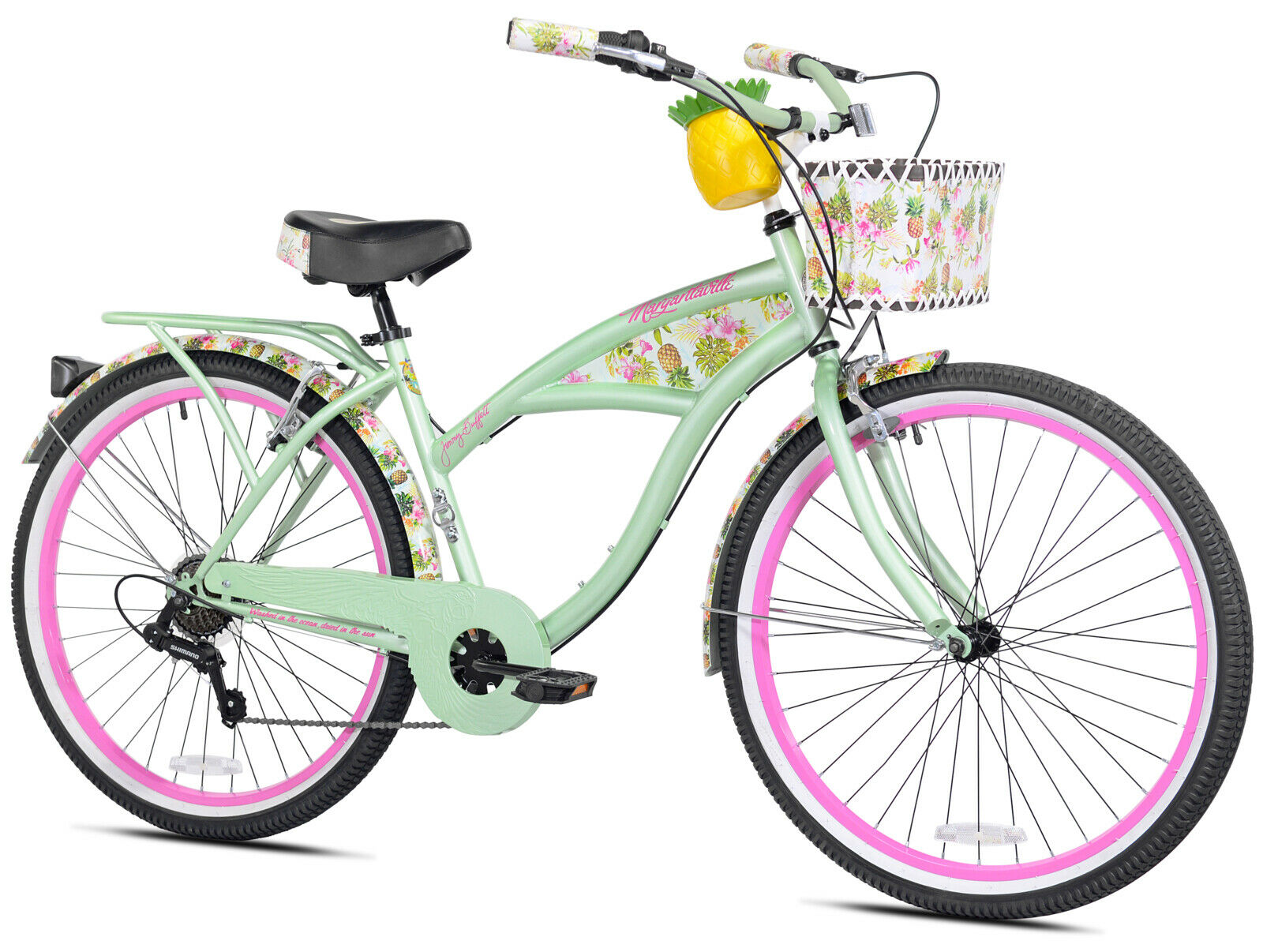 """Women's Beach Cruiser Bikes 26"""" Bicycle With Built-in Luggag"""