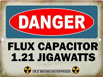 Vintage Retro Reproduction Back To The Future Flux Capacitor 1.21 Jigawatts
