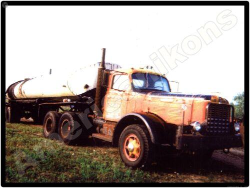 Hendrickson Trucks New Metal Sign: Heavy Duty Tractor w/ Tanker Pictured