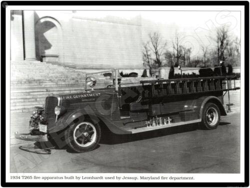 Studebaker Trucks New Metal Sign: 1934 Model T265 Fire Truck, Jessup, Maryland
