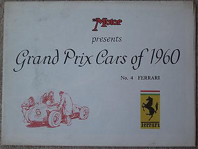 Motor Grand Prix Cars of 1960 No 4 Ferrari