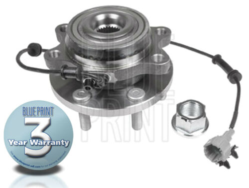 FOR NISSAN NAVARA D40 2.5TD 05-> FRONT WHEEL BEARING HUB ASSEMBLY KIT WITH ABS