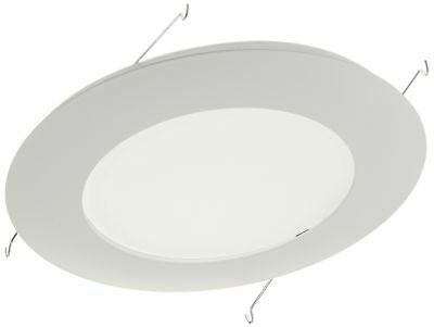 NICOR Lighting 6-Inch Non-IC Rated Lexan Shower Trim with Albalite Lens, White