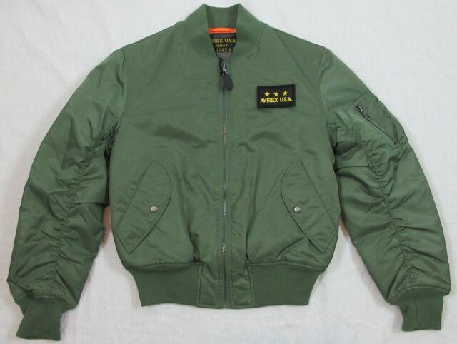 Avirex USA Ma-1 Classic Bomber Jacket Olive Size L | eBay