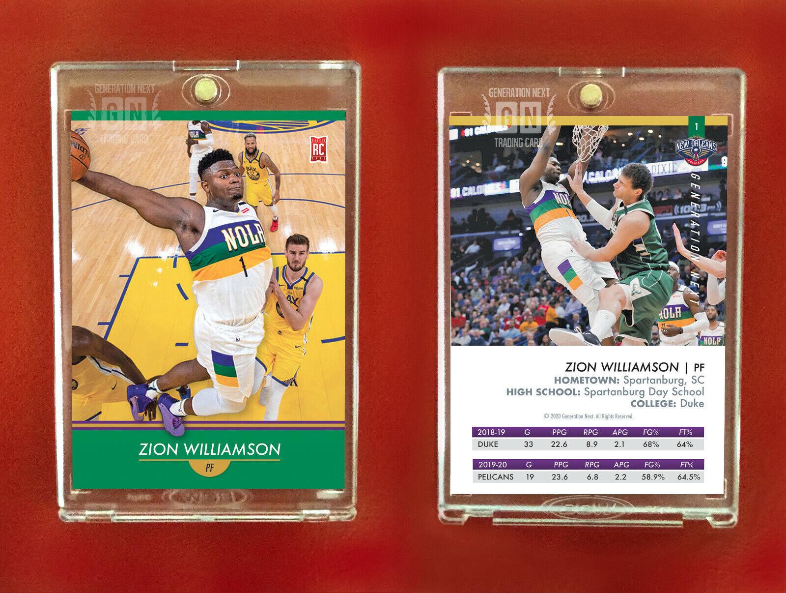 Zion Williamson Rookie Card / New Orleans Pelicans / Generation Next