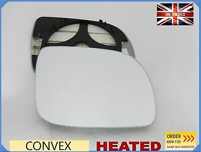 Right hand driver side for Vw Lupo 2000-2005 Flat wing mirror glass