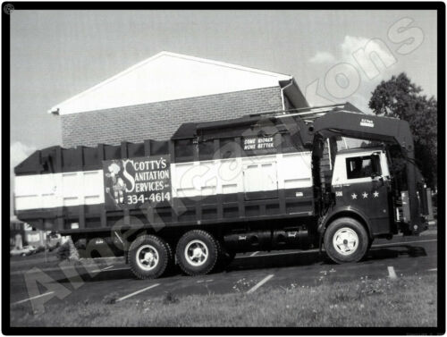 1975 Mack Garbage Trucks New Metal Sign: MB Series Truck - Scotty