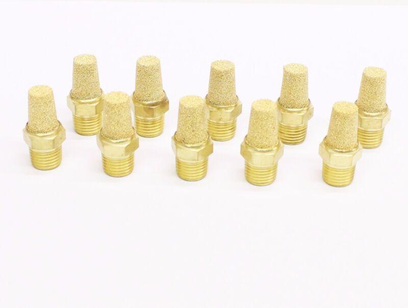 "10pc Pneumatic Cone Silencers Sintered Bronze 1/4"" NPT MettleAir BSL-N02"