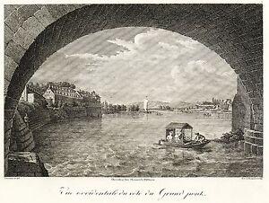DRESDEN - ITALIENISCHES DÖRFCHEN - Frenzel - Kupferstich 1808