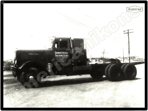 Autocar Truck New Metal Sign: Denver Chicago Trucking Company Tractor Pictured