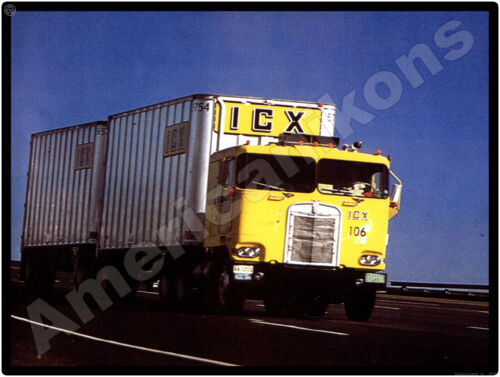 Kenworth Trucks New Metal Sign: ICX Tandem Tractor Trailer Pictured