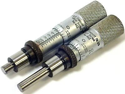 Lot Of 2 Starrett 463 Precision Micrometer Head 0-12 Range 0.001 Graduation