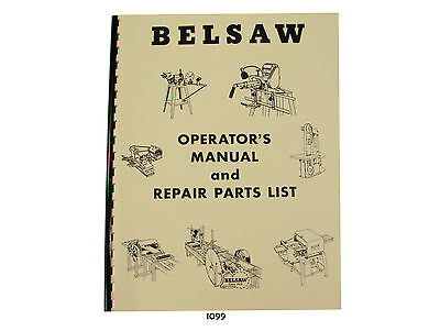 Foley Belsaw Model 1200 Saw Filer Operators Manual Repair Parts List  1099