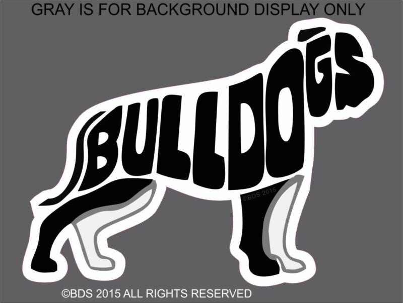 American Bulldog Word Silhouette Vinyl Sticker Decal