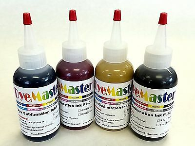 Dyemaster Sublimation Ink Cmyk Combo Pack 4 Oz. 120ml X 4 Bottles