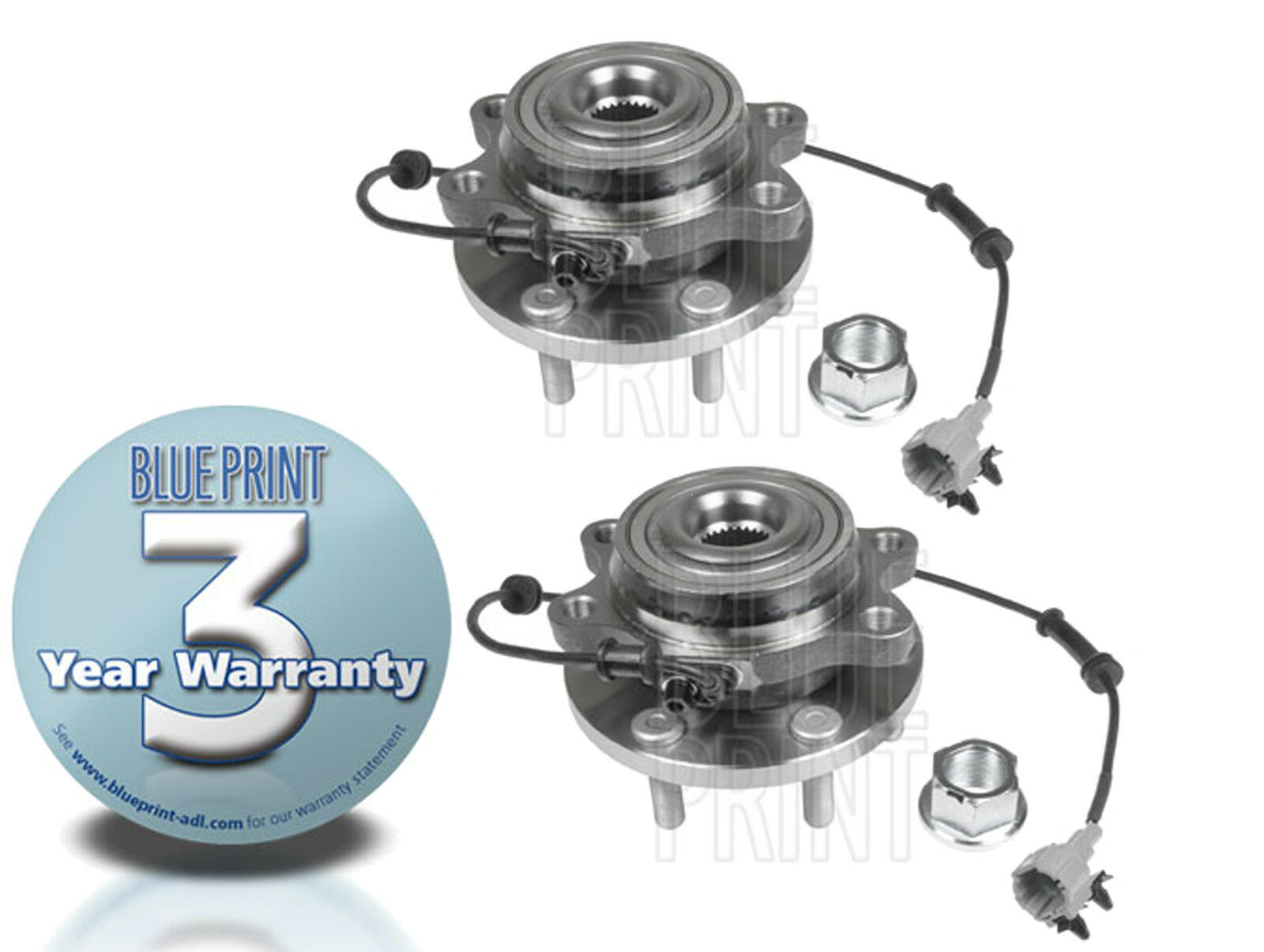 Details about FOR NISSAN NAVARA D40 2 5TD 2 FRONT WHEEL BEARING HUB HUBS  ASSEMBLY KIT WITH ABS