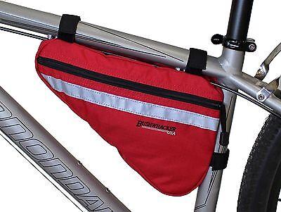Bushwhacker Gallup Red Bicycle Frame Bag Cycling Pack Seat Top Tube Bike Wedge