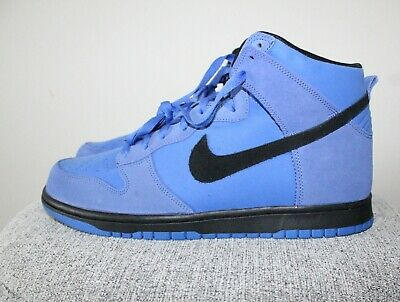 39d6d44521 New-Nike SB Dunk High Suede Comet Blue/Black 904233-401- Size 11.5