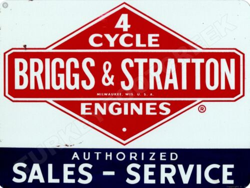 "BRIGGS & STRATTON SALES - SERVICE 9"" x 12"" Aluminum Sign"