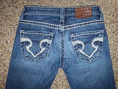 Big Star Sweet boot ultra low rise sz 24R denim blue jeans 28W 32L thick stitch