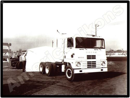 Dodge Trucks New Metal Sign: Dodge COE Tractor, Truck in White Pictured